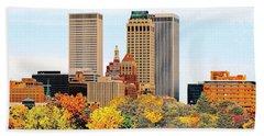 Tulsa Oklahoma In Autumn Hand Towel
