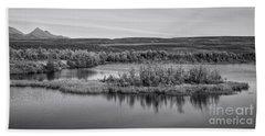 Tundra Pond Reflections Bath Towel
