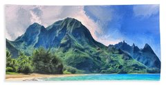 Tunnels Beach Kauai Hand Towel