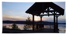 Tupper Lake Sunset Over Raquette Pond Hand Towel