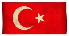 Turkey Flag Vintage Distressed Finish Bath Towel