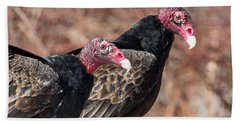Turkey Vultures Square Hand Towel by Bill Wakeley