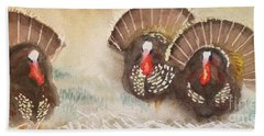 Turkeys Hand Towel by Yoshiko Mishina