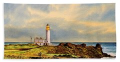 Turnberry Golf Course 9th Tee Bath Towel by Bill Holkham