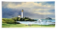 Turnberry Golf Course Scotland 10th Green Bath Towel by Bill Holkham