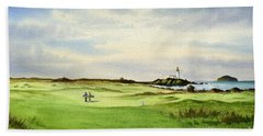 Turnberry Golf Course Scotland 12th Tee Bath Towel by Bill Holkham