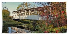 Bath Towel featuring the photograph Turner's Covered Bridge by Suzanne Stout