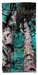 Turquois Trees  Hand Towel
