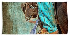 Turquoise Boot Hand Towel
