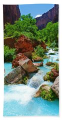 Turquoise Stream Hand Towel