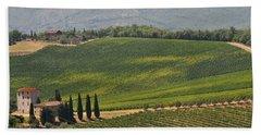 Tuscan Hillside Bath Towel