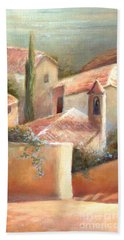Bath Towel featuring the painting Tuscan Village by Michael Rock