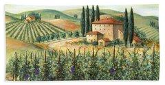 Tuscan Vineyard And Villa Hand Towel