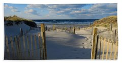 Hand Towel featuring the photograph Golden Hour Beach by Dianne Cowen