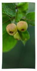 Bath Towel featuring the photograph Twin Berries by Jacqui Boonstra