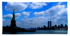 Twin Towers In Heaven's Sky - Remembering 9/11 Bath Towel