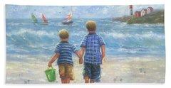 Two Beach Boys Walking Bath Towel