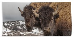 Two Bison Bath Towel