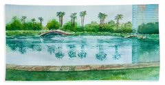 Two Bridges At Rainbow Lagoon Bath Towel