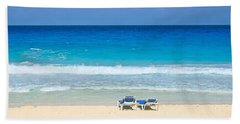 Two Chairs On Cancun Beach Hand Towel