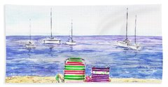 Two Chairs On The Beach Hand Towel