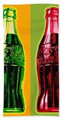 Two Coke Bottles Hand Towel