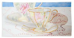 Two For Tea Hand Towel by Laurel Best