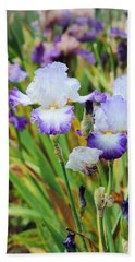 Bath Towel featuring the photograph Two Iris by Patricia Babbitt
