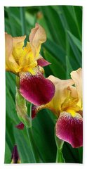 Two Iris Hand Towel by Rodney Lee Williams