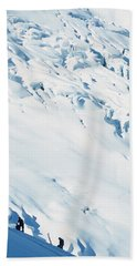 Two Mountaineers High On The Slopes Hand Towel