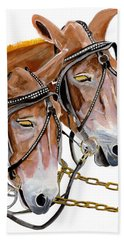 Two Mules - Enhanced Color - Farmer's Friend Hand Towel