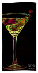 Hand Towel featuring the digital art Two Olive Martini by Dragica  Micki Fortuna