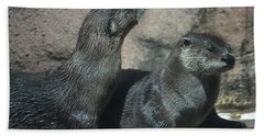 Two Otters Hand Towel
