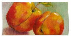 Two Peaches Hand Towel by Michelle Abrams