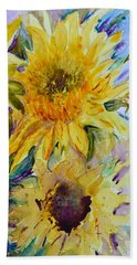 Two Sunflowers Bath Towel