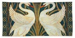 Two Swans Bath Towel