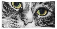 Two Toned Cat Eyes Hand Towel