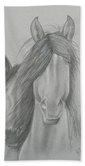 Two Wild Horses Bath Towel