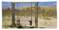 Hand Towel featuring the photograph Tybee Island Swing by Gordon Elwell