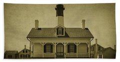 Tybee Lighthouse Bath Towel by Priscilla Burgers