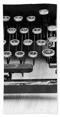 Typewriter Triptych Part 3 Bath Towel