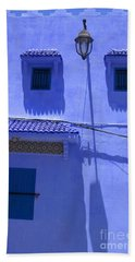 Bath Towel featuring the photograph Typical Blue Facade In The Medina Of Asilah On Northwest Tip Of Atlantic Coast Of Morocco by Ralph A  Ledergerber-Photography