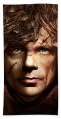 Bath Towel featuring the painting Tyrion Lannister - Peter Dinklage Game Of Thrones Artwork 2 by Sheraz A