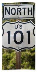 U S 101 Sign California Hand Towel