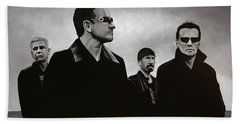 U2 Hand Towel by Paul Meijering