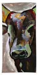 Ugandan Long Horn Cow Hand Towel