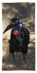 Ugly Bird Ball Hand Towel by Donna Blackhall