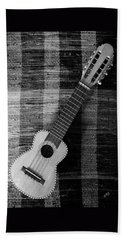 Ukulele Still Life In Black And White Hand Towel