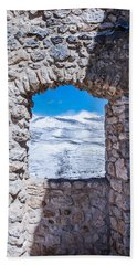 A Window On The World Bath Towel by Andrea Mazzocchetti