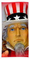 Uncle Sam Wants You Bath Towel by Ed Weidman